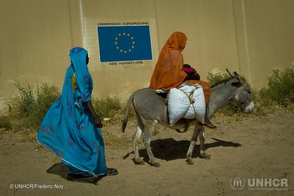 Chad. Darfurians refugees in Eastern Chad